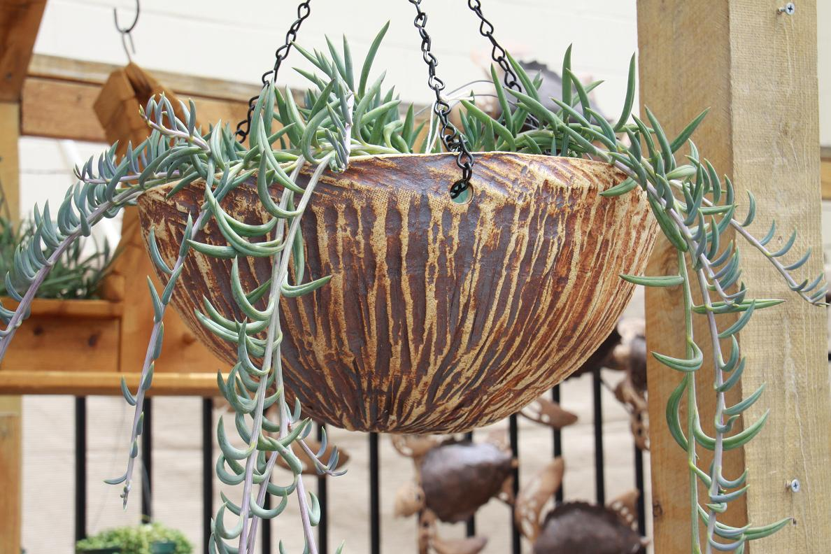 Bamboo Oxide Hanging Planter