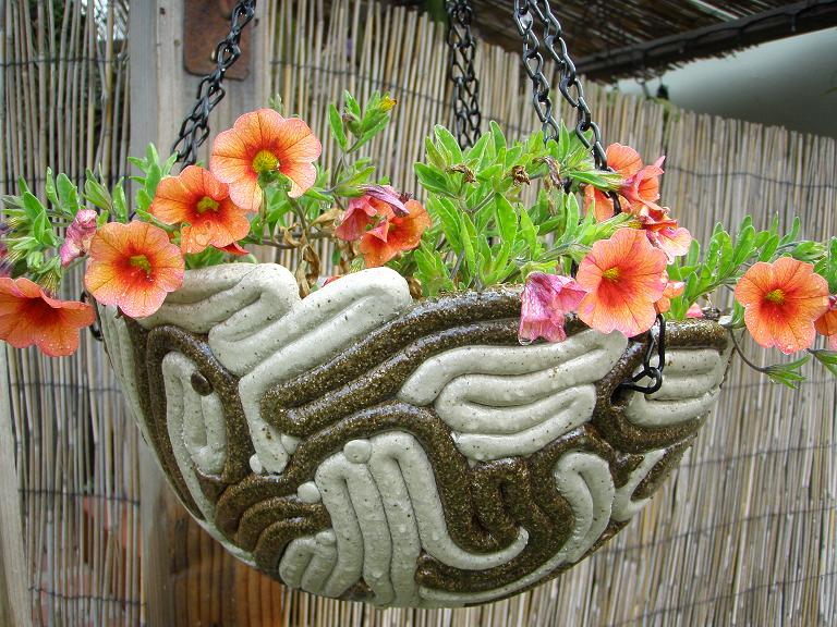 Light & Dark Clay Coiled Planter