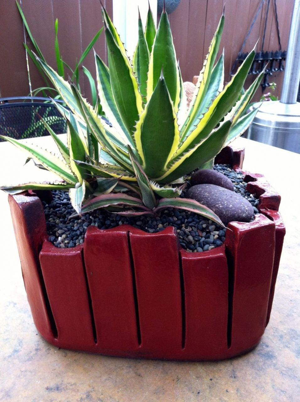 Cinnabar Extruded Planter