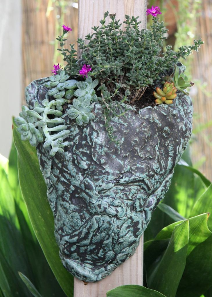 Green Organic Wall Planter