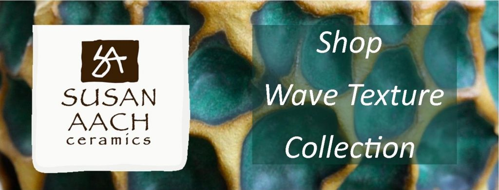 Susan Aach ceramics - shop wave texture collection ceramic pottery